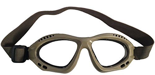 A&N Airsoft Goggle 1 A&N Eyes Safety & Protection Airsoft Clear Glass Adjustable Goggles (TAN)