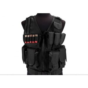 enmu pancho Airsoft Tactical Vest 1 Limited edition Airsoft Zombie Hunter Starter's Tactical Vest Package - Black