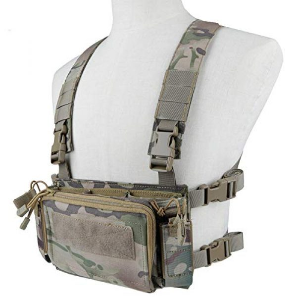 Downhill Airsoft Tactical Vest 2 Camouflage Tactical Vest Airsoft Ammo Box Rig, and Chest Camo Downhill Tactical Vest 5.56 Inch, 0.354InchTactical Vest