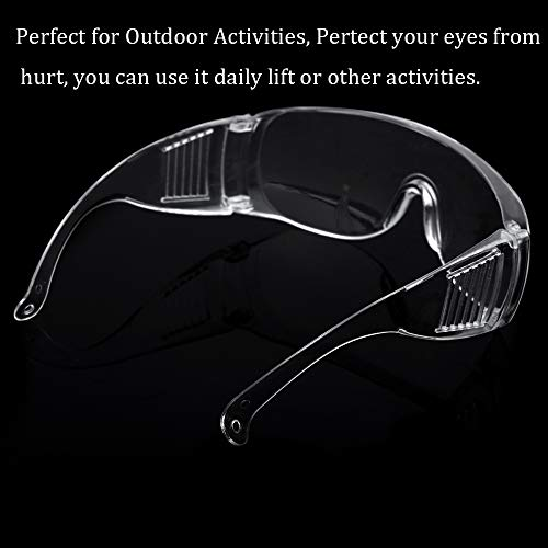 OMG_Shop Airsoft Goggle 4 Protective Safety Goggles Glasses Crystal Clear Eyewear Anti-Fog Glasses Eye Protection with Clear Vision