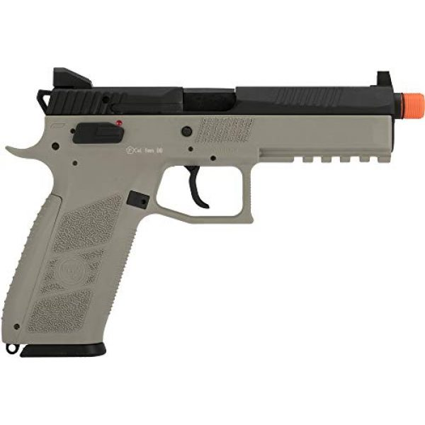 Evike Airsoft Pistol 5 Evike ASG CZ P-09 Licensed Airsoft GBB Gas Blowback Full Metal Airsoft Pistol (Color: Urban Grey)