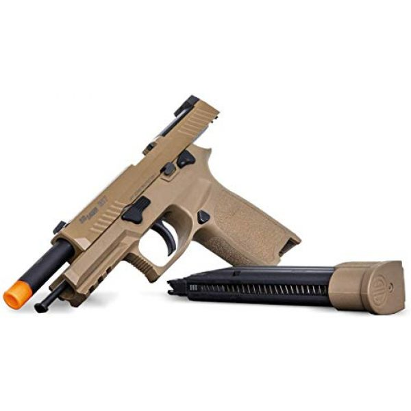 SIG Airsoft Air Pistol 6 Sig Sauer Pro Force M17 Airsoft Pistol with Included 5x12 Gram CO2 Tanks and Pack of 1000 6mm 0.20g BBS Bundle