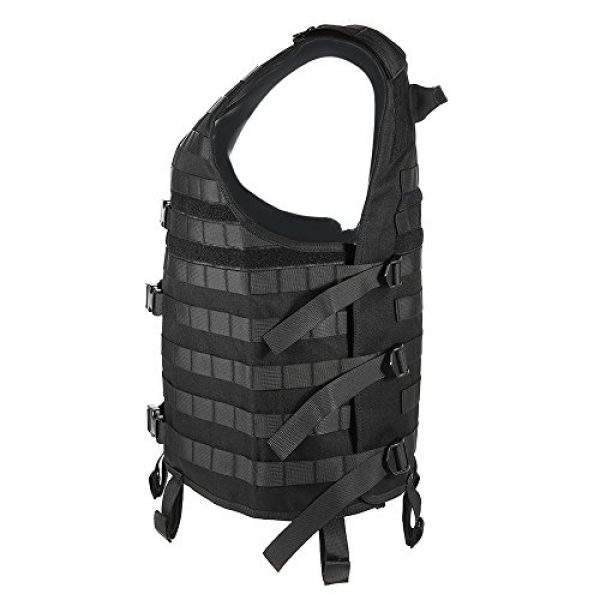 Lixada Airsoft Tactical Vest 3 Lixada Tactical Vest Military Airsoft Vest Adjustable Breathable Combat Training Vest for Outdoor Hunting, Fishing, Army Fans, CS War Game, Survival Game, Combat Training