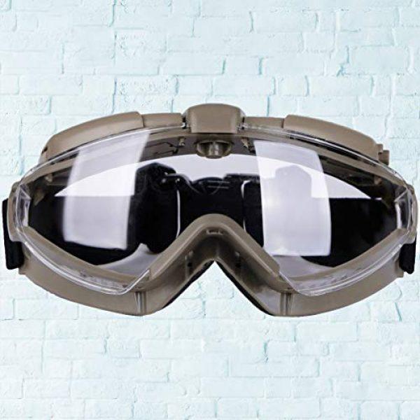 BESPORTBLE Airsoft Goggle 5 BESPORTBLE Eyewear Protective Safety Glasses Anti-Fog Anti-Spitting Anti-Saliva Goggles Eyewear Safety Glasses-Black