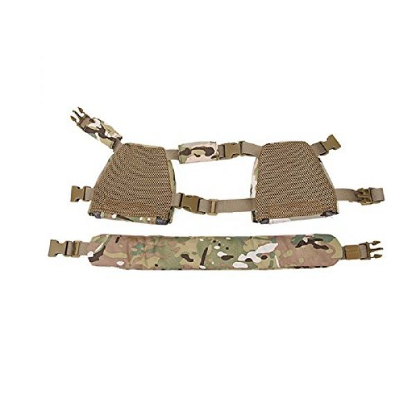 YASHALY Airsoft Tactical Vest 7 YASHALY Chest Rig for Kids, Mini Tactical Vest with Patrol Loading Bearing Belt Assault Molle Combat Children WST Military Protective Gear for WG Game Party