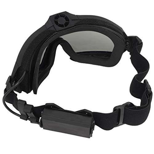 Simways Airsoft Goggle 4 Simways Airsoft Anti Fog Goggles with Fan Clear and Tinted Lens for Tactial Ski Riding Snowboard