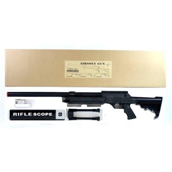 BBTac Airsoft Rifle 4 470 fps wellfire aps sr-2 modular full metal bolt action sniper rifle w/ scope pkg mb06d(Airsoft Gun)
