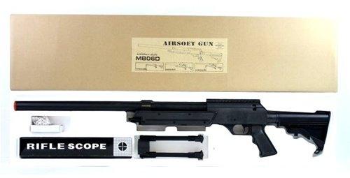BBTac  4 470 fps wellfire aps sr-2 modular full metal bolt action sniper rifle w/ scope pkg mb06d(Airsoft Gun)
