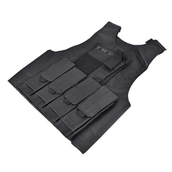 Jacksking Airsoft Tactical Vest 1 Jacksking Tactics Vest,Outdoor Military Children Tactics Vest Sports Waterproof Protector Training Accessory