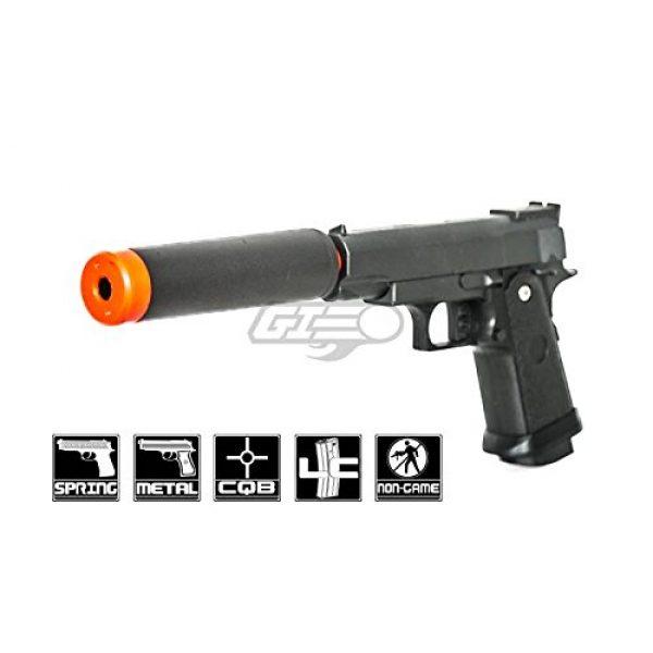 UKARMS Airsoft Pistol 1 UK Arms G10A Mini M1911 Hi Capa 4.3 Metal Spring Airsoft Pistol – Metal Spring Airsoft Gun for Beginners (Black)