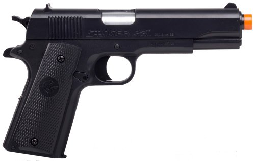 Game Face Airsoft Pistol 1 GameFace ASP311B Stinger P311B Spring-Powered Single-Shot Military-Style Airsoft Pistol