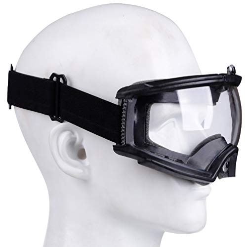 BESPORTBLE Airsoft Goggle 6 BESPORTBLE Protective Safety Goggle Anti-Fog Anti-Spitting Anti-Saliva Goggles Eyewear Eyeshield Safety Glasses -Black