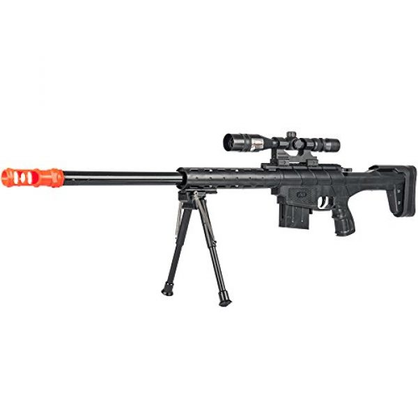 BBTac Airsoft Rifle 1 BBTac Airsoft Sniper Rifle Gun - Powerful Spring Loaded Shoots 6mm BBS Easy to use, Great for Starter Pack Game Play