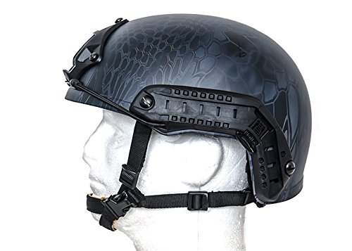 Lancer Tactical Airsoft Goggle 3 Lancer Tactical CA-726B FAST Helmet MH Type Custom Color (Black)
