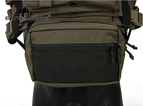 Elite Tribe Airsoft Tactical Vest 5 Elite Tribe MK3 Modular Lightweight Chest Rig Micro Fight Chissis 5.56 Mag Pouch
