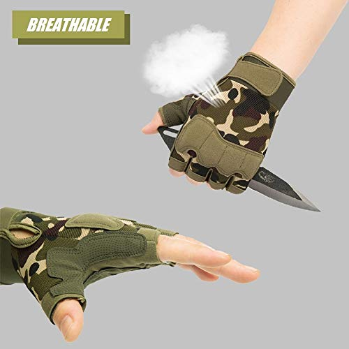 HYCOPROT Airsoft Glove 2 HYCOPROT Fingerless Tactical Gloves