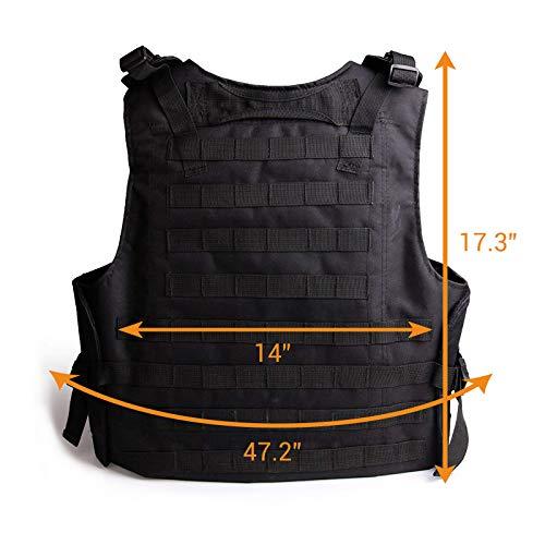 Solomone Cavalli Airsoft Tactical Vest 2 Solomone Cavalli Tactical Airsoft Vest Outdoor Ultra-Light Training Vest Adjustable for Adults 600D Black