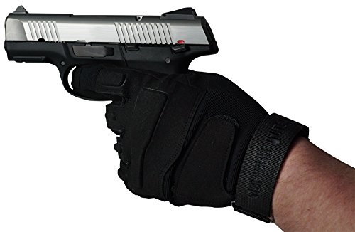 Survival Outlaw Airsoft Glove 2 Survival Outlaw - Black Tactical Shooting Gloves Impact Protection for Airsoft and Paintball Excellent Dexterity Grip for Men & Women. (M