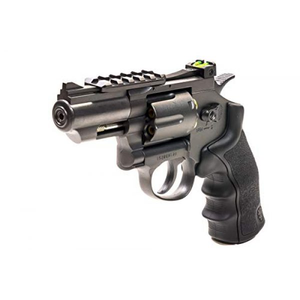 Black Ops Air Pistol 1 Black Ops Exterminator 2.5 Inch Revolver - Gun Metal Finish - Full Metal CO2 BB/Pellet Gun - Shoot .177 BBs or Pellets