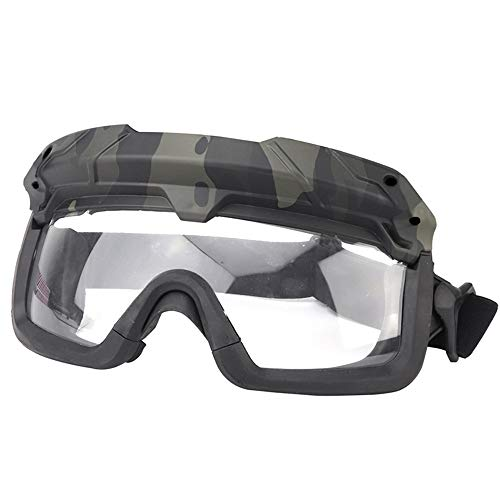 Sunnystacticalgear Airsoft Goggle 5 Sunnystacticalgear Outdoor Paintball Shooting Face Protection Gear Tactical Fast Helmet Wing Rail Side Rail Clip Buckle Mount Helmet Goggles