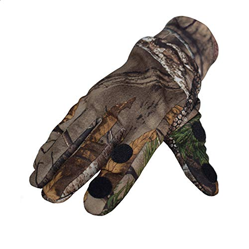 EAmber Airsoft Glove 6 Eamber Camouflage Hunting Gloves Full Finger/Fingerless Gloves Pro Anti-Slip Camo Realtree Glove Archery Accessories Hunting Outdoors (M) (L) (L)