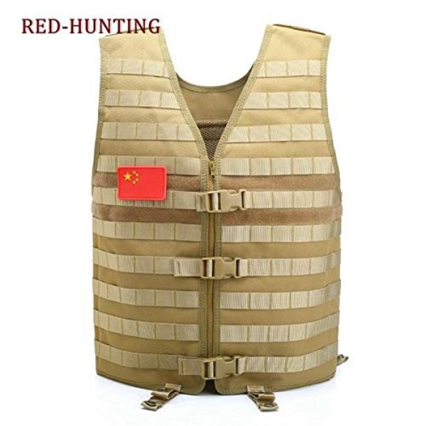 Shefure Airsoft Tactical Vest 5 Shefure Men's Molle Tactical Vest Hunting Gear Load Carrier Vest Sport Safety Vest Hunting Fishing with Hydration System