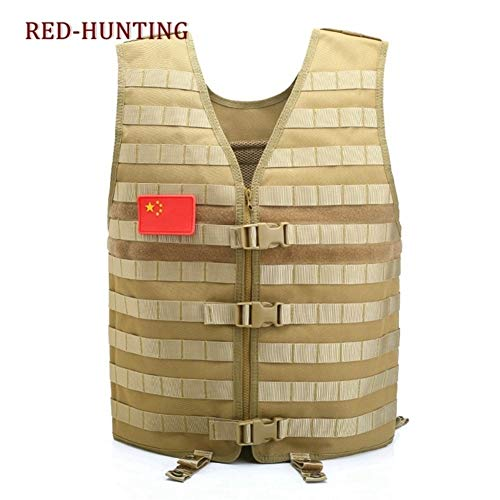 Shefure  5 Shefure Men's Molle Tactical Vest Hunting Gear Load Carrier Vest Sport Safety Vest Hunting Fishing with Hydration System
