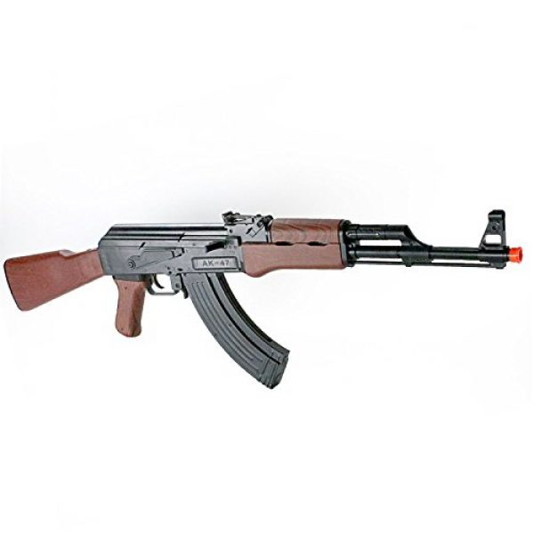 BBTac Airsoft Rifle 3 BBTac Airsoft Spring Rifle A&K Airsoft Gun Full Size Great for Starter Shoot 6mm BBS with Safe Mode, Wood Color