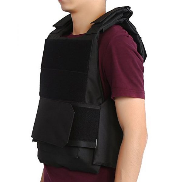 Vbestlife Airsoft Tactical Vest 5 Tactical CS Field Vest Outdoor Tactical Vest Hunting Security Guard Waistcoat CS Field Combat Training Protective Vest for Adult Airsoft Games Boys Costumes