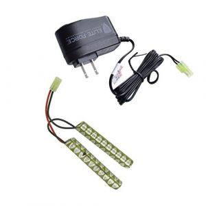 Elite Force Airsoft Battery 1 Elite Force 9.6v 1600mAh NiMh Battery and Smart Charger Player Package