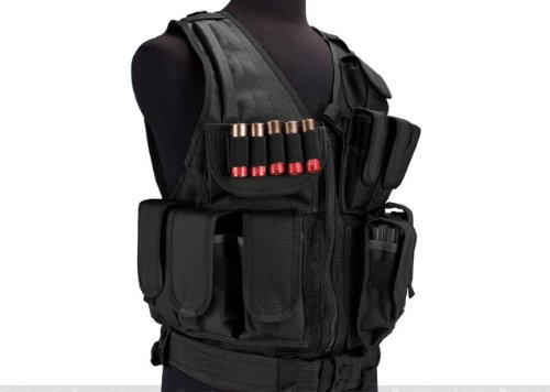 enmu pancho Airsoft Tactical Vest 3 Limited edition Airsoft Zombie Hunter Starter's Tactical Vest Package - Black