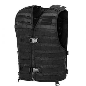 Chief Tac Airsoft Tactical Vest 1 Chief Tac Military Tactical Molle Vest Mesh Light Army Airsoft Paintball Utility Vest, Breathable Lightweight Hunting Fishing Vest for Men
