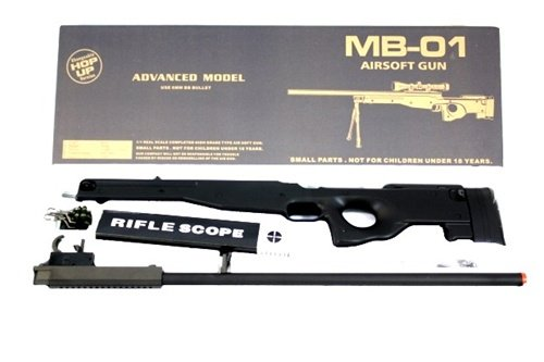 BBTac Airsoft Rifle 4 BBTac Airsoft Sniper Rifle 500 FPS BT-96 Full Metal Bolt Action AWP with 3x Scope Package