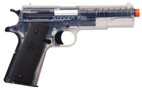Game Face  1 GameFace ASP311C Stinger P311C Spring-Powered Single-Shot Military-Style Airsoft Pistol