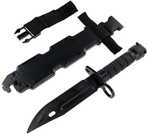 SportPro Airsoft Tool 6 SportPro Rubber Combat Knife M9 Style for Training Airsoft Black