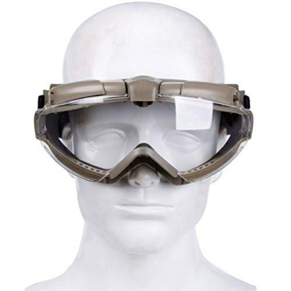 BESPORTBLE Airsoft Goggle 6 BESPORTBLE Eyewear Protective Safety Glasses Anti-Fog Anti-Spitting Anti-Saliva Goggles Eyewear Safety Glasses-Black
