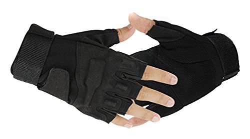 Eforcase Airsoft Glove 1 Eforcase Outdoor Sports Military Half-finger Fingerless Tactical Airsoft Hunting Riding Cycling Gloves Black Green Camel Available (Black