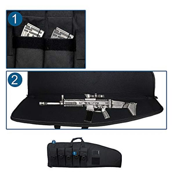Fox Tactical Airsoft Gun Case 4 Fox Tactical 38 42 Inch Tactical Rifle Case Rifle Bag Long Single Gun Case,with Water Dust Resistant for Hunting Shooting Storage Transport