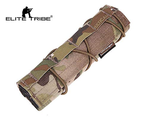 Elite Tribe Airsoft Tool 2 Elite Tribe Airsoft Tactical Rifle Suppressor Cover 18cm Quick Release Multicam