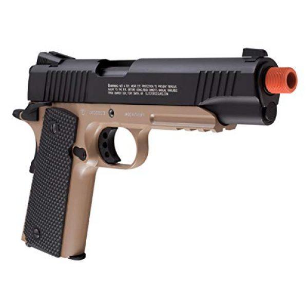 RWS Airsoft Pistol 4 Elite Force 1911 Blowback 6mm BB Pistol Airsoft Gun, 1911 TAC, FDE/Black
