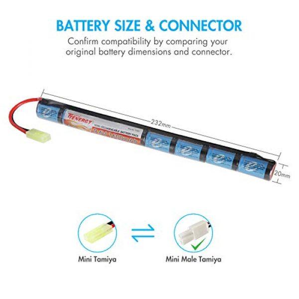 Tenergy Airsoft Battery 3 Tenergy 9.6V NiMH 1600mAh Stick Mini Battery Pack