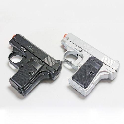 BBTac Airsoft Pistol 1 BBTac Airsoft Pistol Twin Pack - 110 FPS Spring Pocket Airsoft Gun with Storage Case