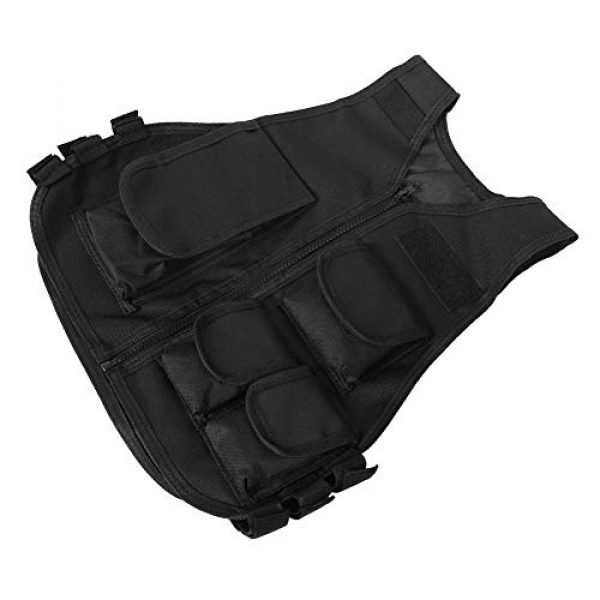 VGEBY Airsoft Tactical Vest 5 Tactical Vest, Adjustable Breathable Lightweight Combat Training Vest Outdoor Hunting, Fishing, Army Fans, CS War Game, Survival Game, Combat Training
