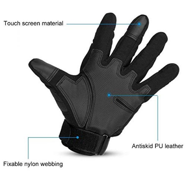 HOMEE Airsoft Glove 3 HOMEE Tactical Gloves Touch Screen Military Rubber Hard Knuckle Full Finger Gloves Fit for Cycling Airsoft Paintball Motorcycle Hiking Camping