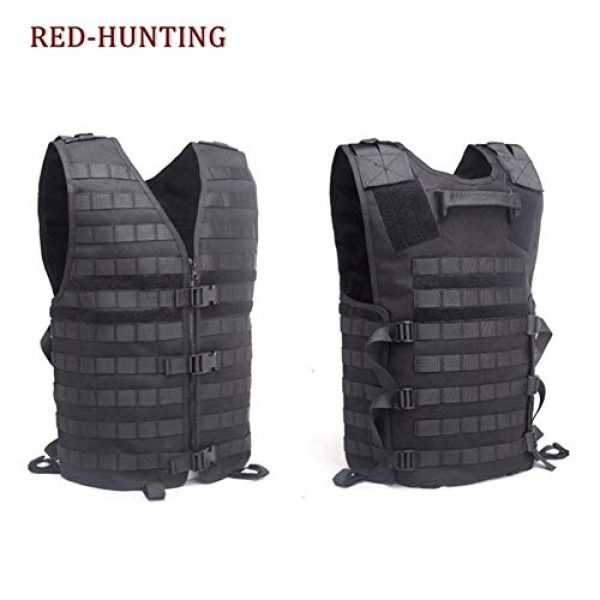 Shefure Airsoft Tactical Vest 2 Shefure Men's Molle Tactical Vest Hunting Gear Load Carrier Vest Sport Safety Vest Hunting Fishing with Hydration System
