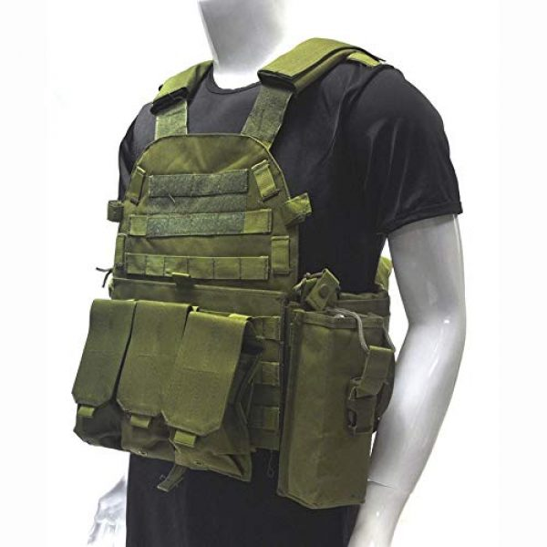 Fouos Airsoft Tactical Vest 2 Fouos Tactical Vest 600D Modoular Protective Durable Waistcoat for Airsoft Wargame Hunting and Outdoor Sports Activities