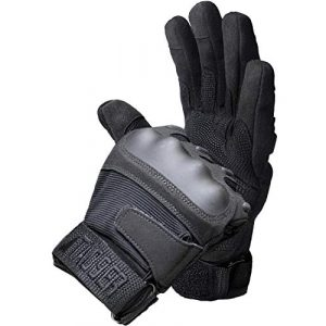 TAC9ER Airsoft Glove 1 TAC9ER Tactical Gloves with Kevlar - Hand Protection Airsoft Gloves Cut and Temperature Resistant with Touchscreen Finger