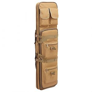 Yamcyh  1 Yamcyh Tactical Rifle Case Rifle Shotgun Soft Case Outdoor Military Rifle Hunting Backpack Airsoft Nylon Square Carry Dual Rifle Bag Gun Protection Case (Khaki