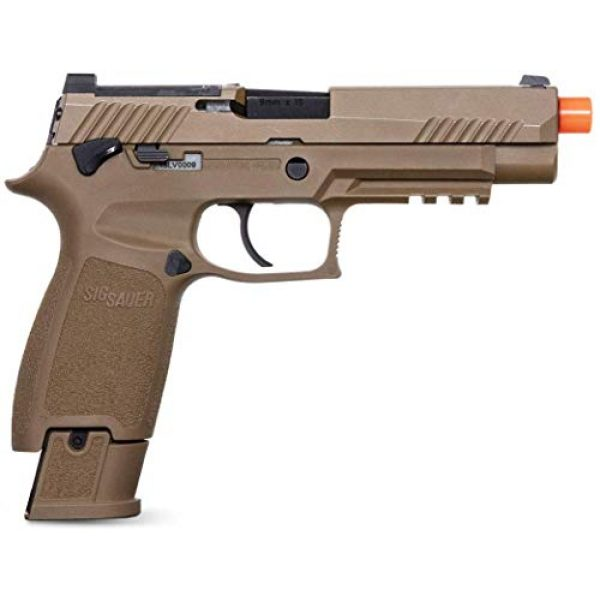 SIG Airsoft Air Pistol 2 Sig Sauer Pro Force M17 Airsoft Pistol with Included 5x12 Gram CO2 Tanks and Pack of 1000 6mm 0.20g BBS Bundle
