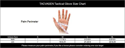 TACVASEN Airsoft Glove 7 TACVASEN Men's Full Finger Gloves for Motorcycle Cycling Camping Hiking Climbing Operating Work Sports